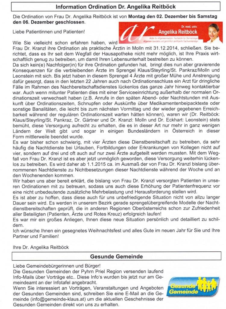 Gemeindeblatt_2015_Bereitschaftsdienst