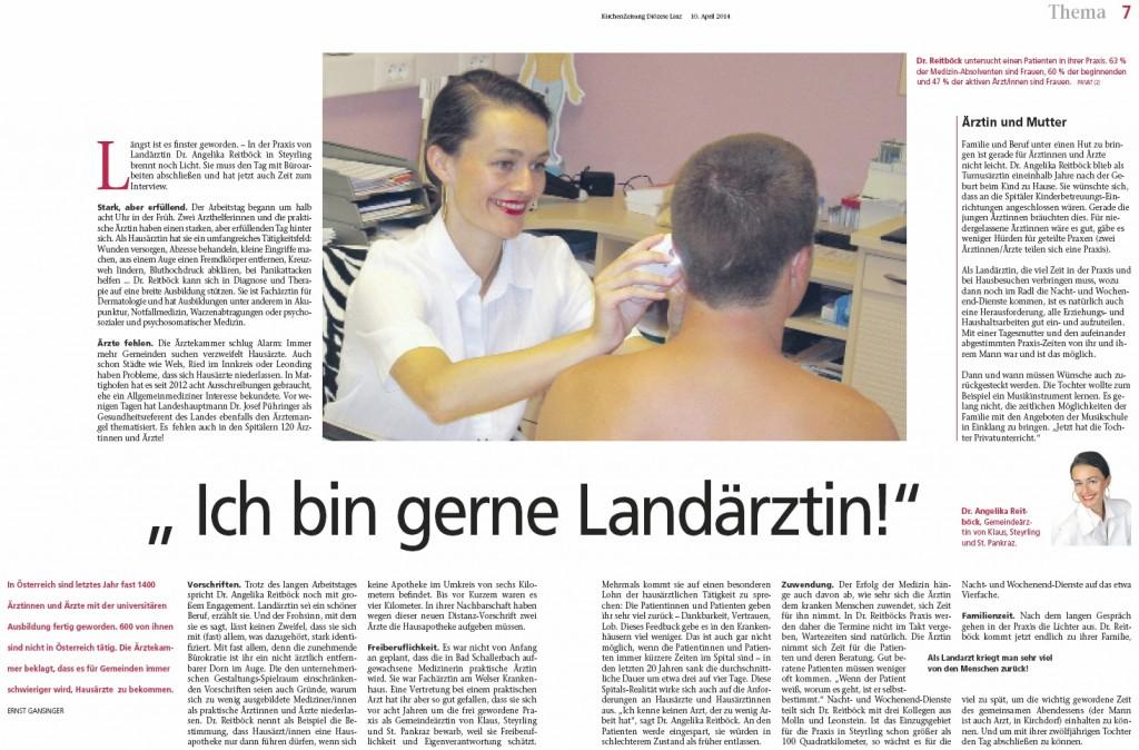 Kirchenzeitung OÖ: Ich bin gerne Landärztin