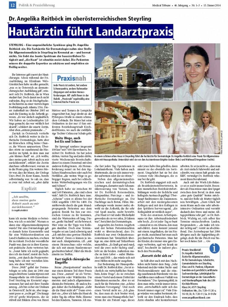 Medical Tribune: Hautärztin führt Landarztpraxis
