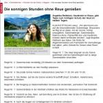 Bezirksrevue: 10 Regeln für Sonne