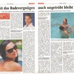 Volksblatt: Damit das Badevergnügen ungetrübt bleibt